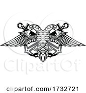 Double Headed Eagle And Anchors