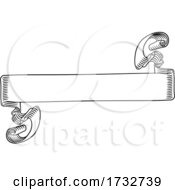 Scroll Banner Woodcut Vintage Style Ribbon