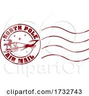 Santa Christmas Postage Letter Post Stamp Postmark