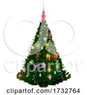 Poster, Art Print Of Decorated Christmas Tree