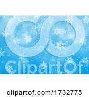 Blue Winter Snowflake Christmas Background