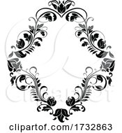 Black And White Floral Funeral Design by Vector Tradition SM