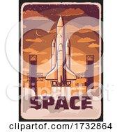 Rocket Launch Vintage Design