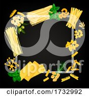 Pasta Border On Black