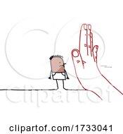 Hand Blocking A Stick Man