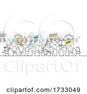 Stick People Protesting