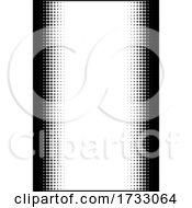 Retro Pop Art Half Tone Border Background Frame