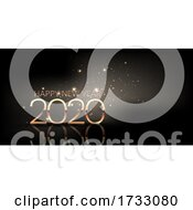 Happy New Year Background With Sparkle Design
