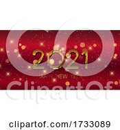 Red And Gold Happy New Year Banner 0312