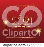 Glittery Gold Happy New Year Background