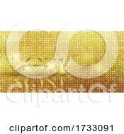 Glittery Gold Happy New Year Banner Design