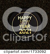 Gold And Black Hhappy New Year Design