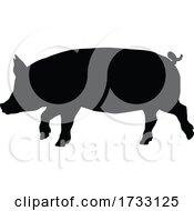 Poster, Art Print Of Pig Silhouette Farm Animal