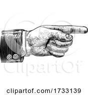 Hand Pointing Finger Direction In Business Suit