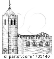Church Cathedral Old Medieval Vintage Building by AtStockIllustration