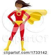 Asian Superhero Woman Cartoon