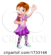 Kid Cartoon Girl Child Thumbs Up