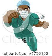 Doctor Or Nurse Superhero Medical Concept
