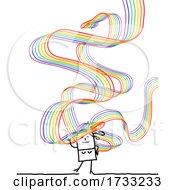 Stick Woman With Rainbow Hair