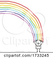 Stick Woman With A Rainbow