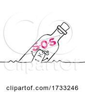 Stick Woman Stuck In A Bottle