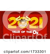 Cartoon Bull Mascot In Year 2021 For Year Of The Ox