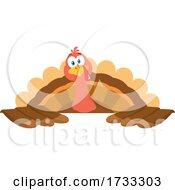 Turkey Bird Over A Sign