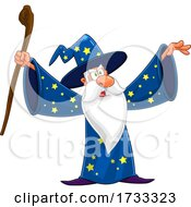Wizard Holding Up His Arms
