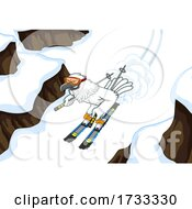 Hawk Skiing down a Slope by Hit Toon #COLLC1733330-0037