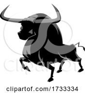 Strutting Black Ox Or Bull by Hit Toon