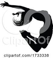 Dancer Silhouette Jumping