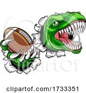 Dinosaur American Football Animal Sports Mascot by AtStockIllustration