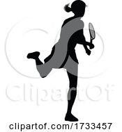 Tennis Player Woman Sports Person Silhouette