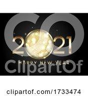 Metallic Happy New Year Background