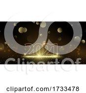 Glittery Happy New Year Banner
