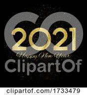 Glittery Happy New Years Background
