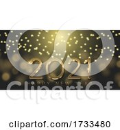 Gold And Black Happy New Year Design 0212