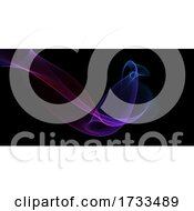 Banner With Colourful Flowing Waves