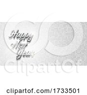 Elegant Silver Happy New Year Banner Design