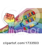 Rainbow and Fist with Gay by Birth Fabulous by Choice Text by mayawizard101 #COLLC1733503-0158