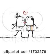 Lesbian Stick Couple