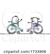 Handicap Stick People In Wheelchairs