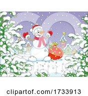 Cheerful Christmas Snowman