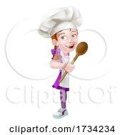 01/01/2021 - Kid Cartoon Girl Chef Cook Baker Child Sign