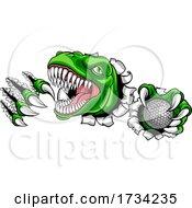 01/01/2021 - Dinosaur Golf Player Animal Sports Mascot