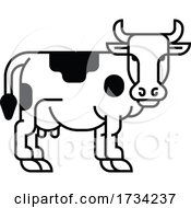Cow Sign Label Icon Concept