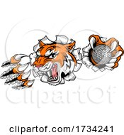 01/01/2021 - Tiger Golf Ball Player Animal Sports Mascot