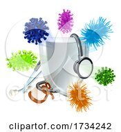 Poster, Art Print Of Stethoscope Medical Virus Bacteria Cells Shield