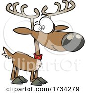 Clipart Cartoon Maskless Christmas Reindeer