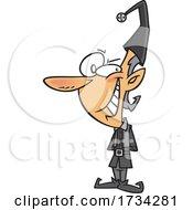 Clipart Cartoon Shady Christmas Elf